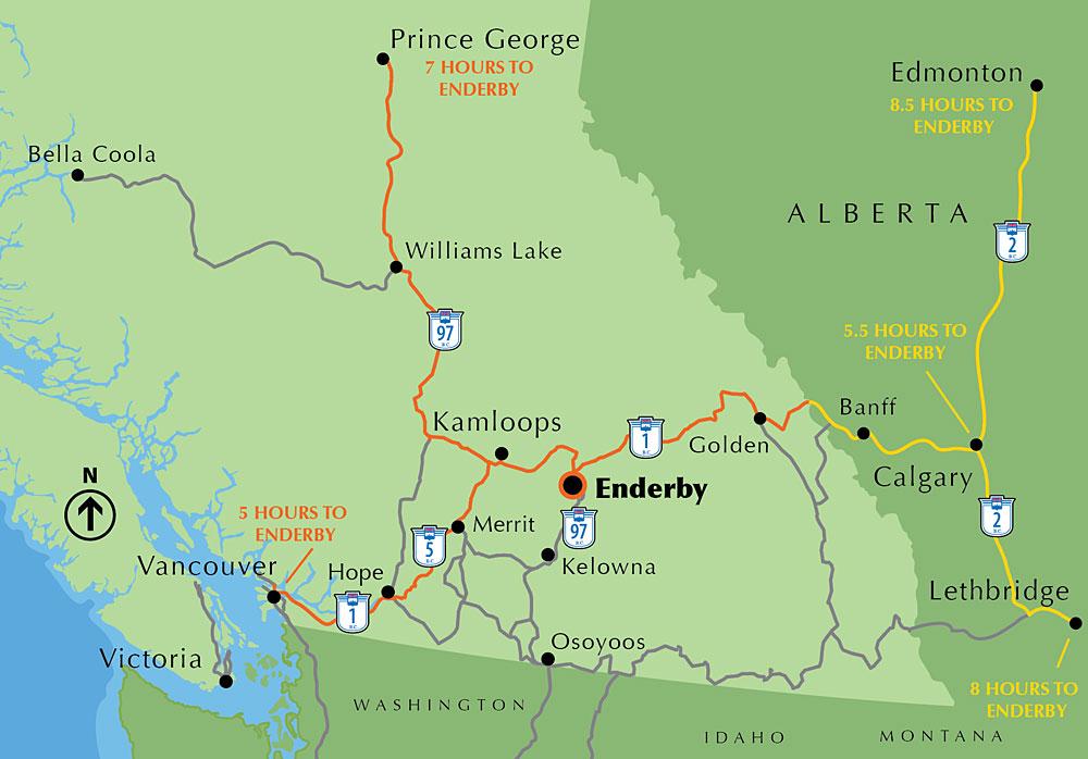 Maps Enderby Bc Canada